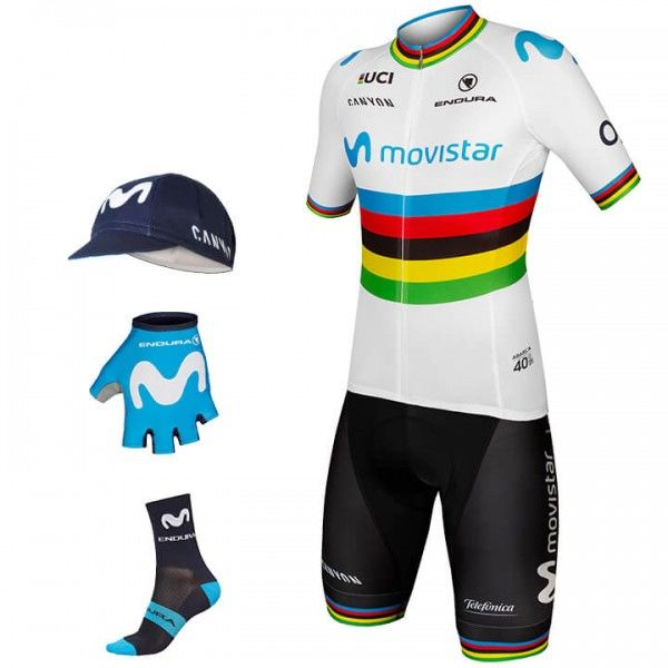 2019 MOVISTAR TEAM Wereldkampioen Maxi-Set (5 stukken) N3730P3785
