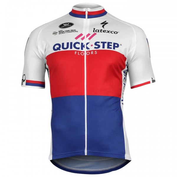 2018 QUICK-STEP FLOORS Fietsshirt Czech kampioen N3433X7840